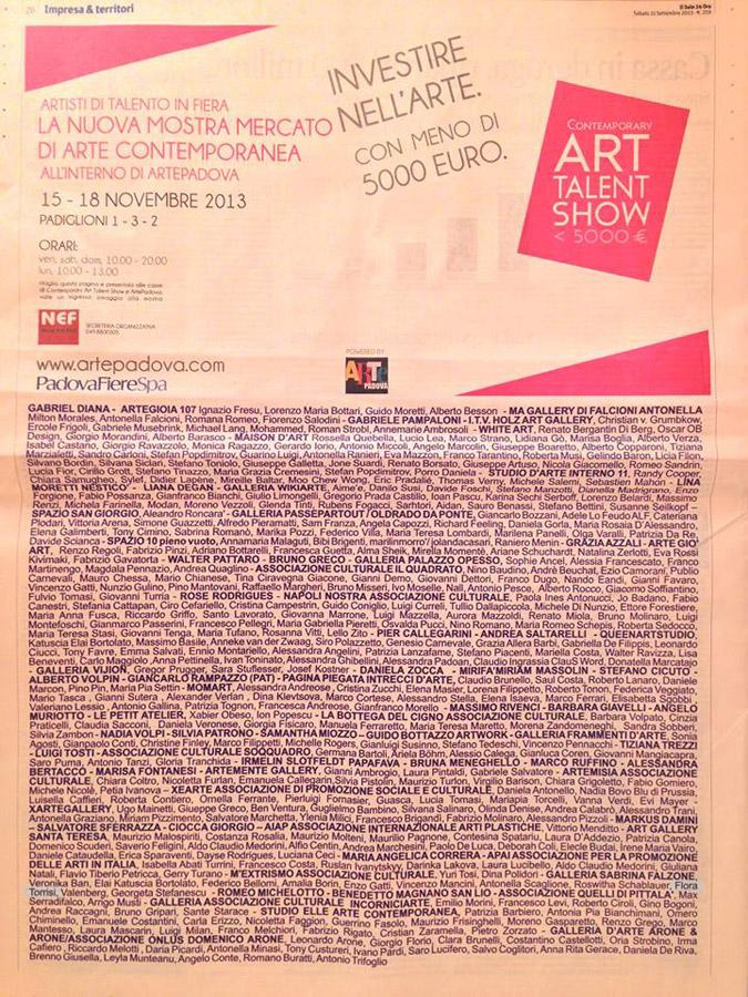 La Nuova Mostra Mercato di Arte Contemporanea